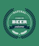 Natural Premium Beer label Stock Image