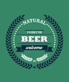 Natural Premium Beer label Stock Image