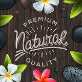 Natural premium quality label, spa concept Stock Photography