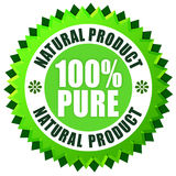 Natural product. Pure natural product label over white Stock Photo