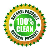 Natural product. Natural clean product icon on white Stock Photo
