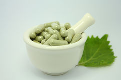 Natural product alternative herbal medicine Stock Image