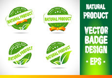 Natural product Badge Vector Royalty Free Stock Photography