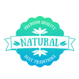Natural Product emblem, badge over white Stock Image