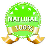 Natural product or food label Stock Image