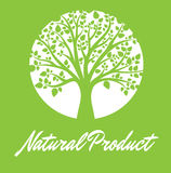 Natural Product. Green Background - Colored vector Stock Image
