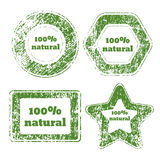 Natural product green sticker eps 10  illustration Stock Images