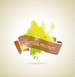 Natural product icon. With ribbon Royalty Free Illustration