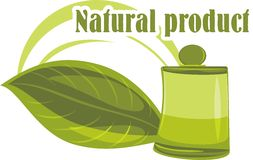 Natural product. Icon for design Stock Photos