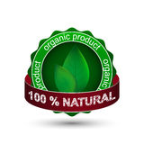 Natural product  icon, label or badge Royalty Free Stock Image