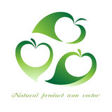 Natural product icon vector Stock Images