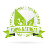 Natural product icon. Vector natural product label royalty free illustration