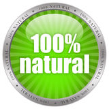 Natural product label. 100 percent natural product label vector illustration