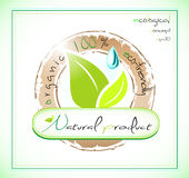 Natural product label Royalty Free Stock Photo