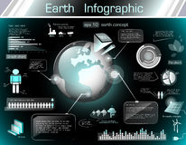 Earth infographics Royalty Free Stock Photography