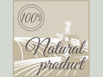 Natural product label. Royalty Free Stock Photo