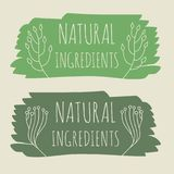 Natural product label. Vector illustration Stock Images