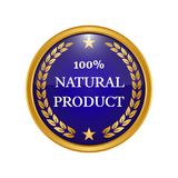 Natural product label on white background. Vector illustration Royalty Free Illustration