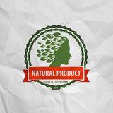 Natural product.  Logo, icon, sign, emblem, stamp Royalty Free Stock Photo