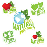 Natural product logo Royalty Free Stock Photo