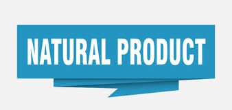 Natural product. Sign.  paper origami speech bubble.  tag.  banner vector illustration
