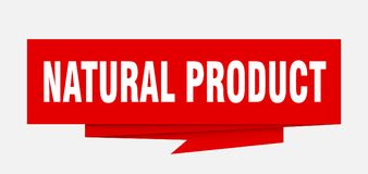 Natural product. Sign.  paper origami speech bubble.  tag.  banner royalty free illustration