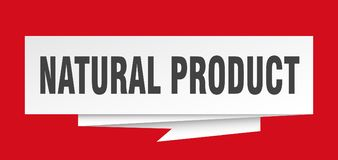 Natural product. Sign.  paper origami speech bubble.  tag.  banner stock illustration