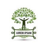 Natural product. Nature and man. Logo, icon, stock illustration