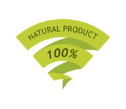 Natural Product 100 Percent Royalty Free Stock Image