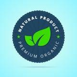 Natural product, premium organic badge. Stock Photo