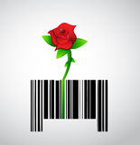 Natural product. rose barcode ups code Stock Photos