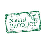 Natural product rubber stamp Royalty Free Stock Photo