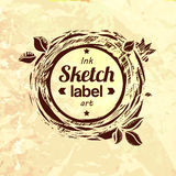 Natural product sketched stamp Stock Images