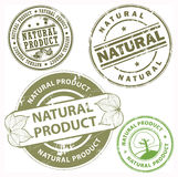 Natural product stamps Royalty Free Stock Image