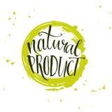Natural product sticker - handwritten modern Stock Photography