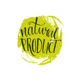 Natural product sticker - handwritten modern Royalty Free Stock Photo