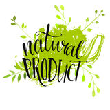 Natural product sticker - handwritten modern Stock Photography