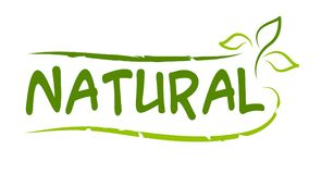 Natural product sticker. Vector illustration for graphic and web design Royalty Free Stock Images