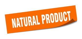 Natural product sticker. Natural product square sign. natural product stock illustration