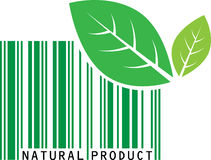 Natural product. Vector illustration of natural product bar code Royalty Free Stock Image