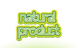 natural product word text logo icon typography design royalty free illustration