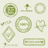 NATURAL PRODUCT written inside the stamp. Stock Photography