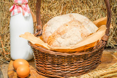 Natural products in the agricultural decoration Royalty Free Stock Images