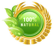 Natural products label vector illustration