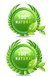 Natural products label stock illustration
