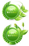 Natural products label Stock Photography