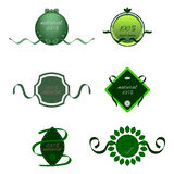 Natural products label. Emblem tural products label green Stock Photo