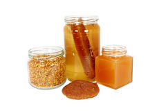 Natural products made of honeybees Stock Photo