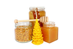 Natural products made of honeybees Stock Image