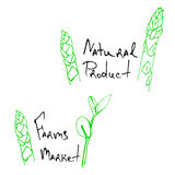 Natural products sketch Royalty Free Stock Images